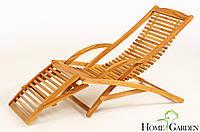 Крісло-шезлонг дерев'яне, фото 1