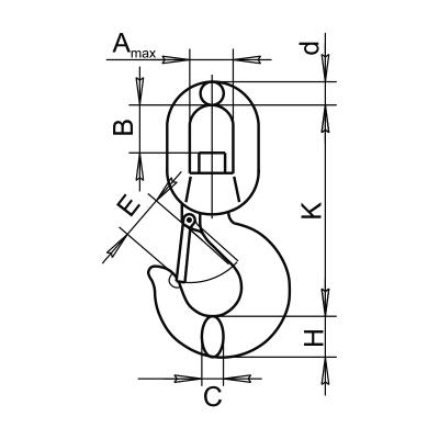 Крюк SL-132 чертеж