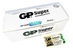 Батарейки алкалайн GP Power Super АА пальчиковые, R 06, упаковка — 40 шт