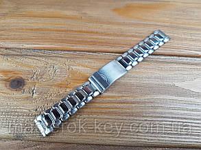 Металлические браслеты для часов 18мм цвет Никель