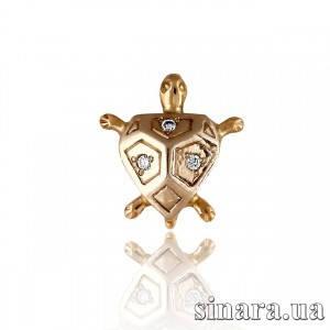 Золотая подвеска Черепашка 1645