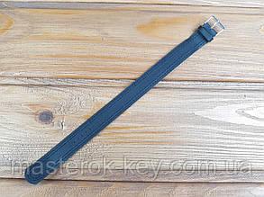 Кожаный ремешок для часов сплошной 18мм цвет Черный