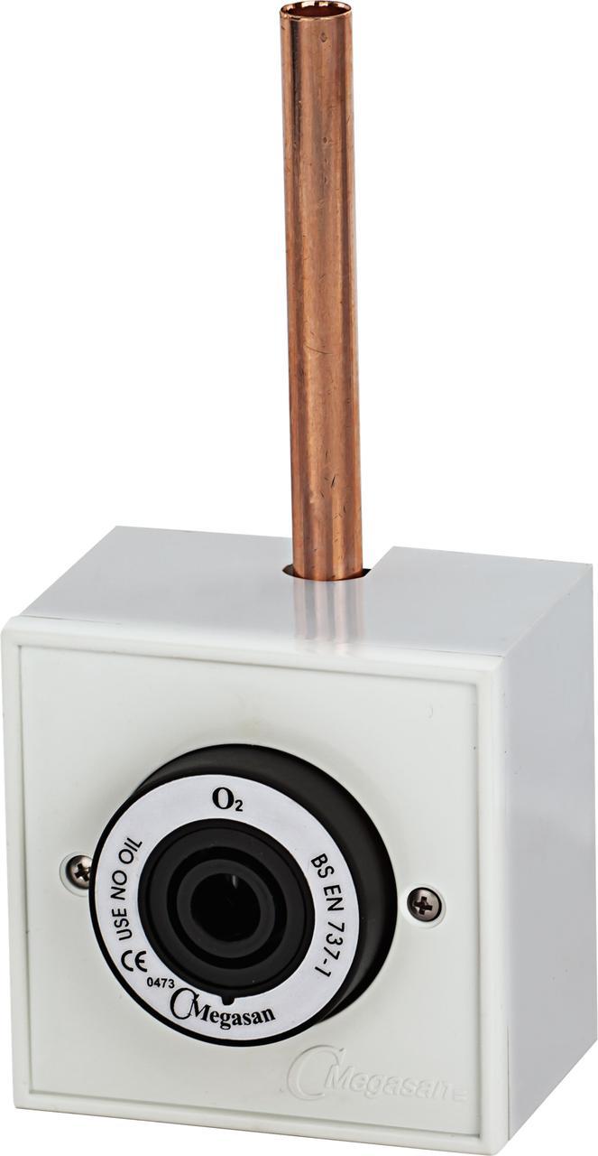 Розетка газовая, в корпусе, кислород - DIN - под пайку