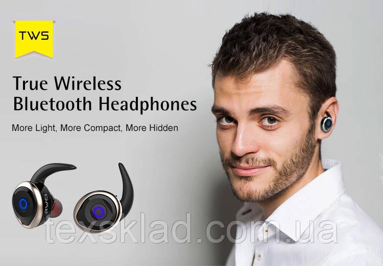 Беспроводные блутуз наушники AWEI T1 TWS (Bluetooth)