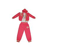 Детский спортивный костюм для девочки тройка (кофта, брюки, реглан) персиковый Венгрия Crossfire на 4, 5 лет