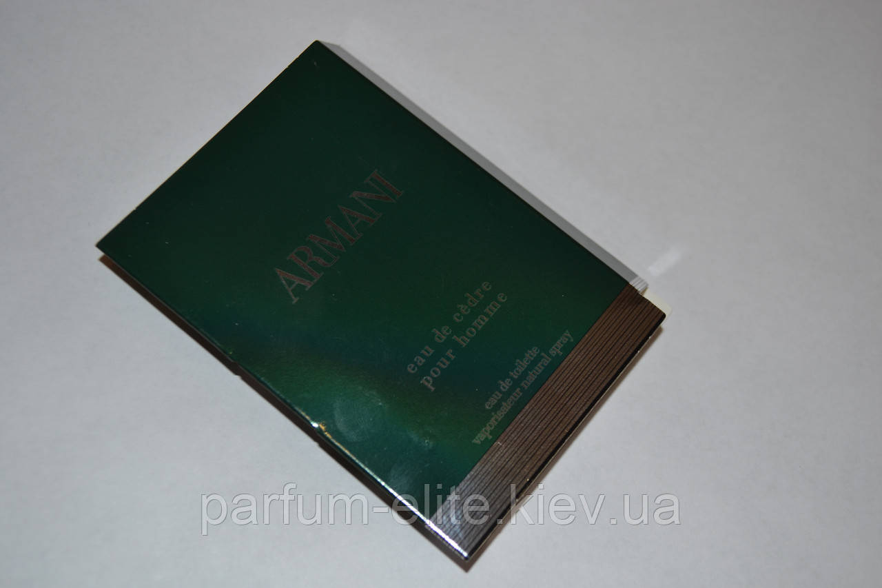 Пробник мужской туалетной воды Armani Eau de Cedre 1.5ml
