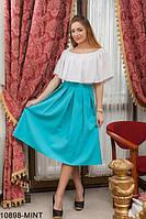 Трендовая легкая юбка-миди в складку Eleve