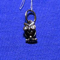 Серебряный кулон с цирконием Совенок 4026ч, фото 1