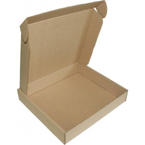 Самосборная картонная коробка - 200 × 200 × 50 - бурая