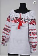 Вышиванка  блуза  женская Роза   батист 1007 ( С.Е.С.)