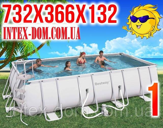 56229 Сборный каркасный бассейн Bestway 732х366х132