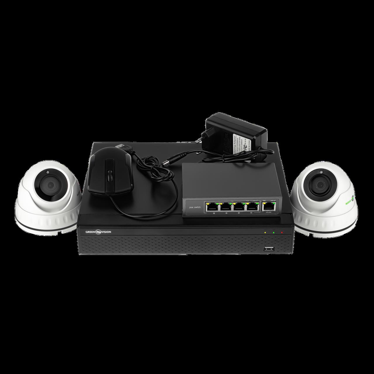 Комплект видеонаблюдения Green Vision GV-IP-K-L24/02 1080P