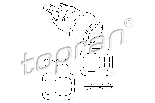Личинка замка зажиг. Audi 80/100  107 090