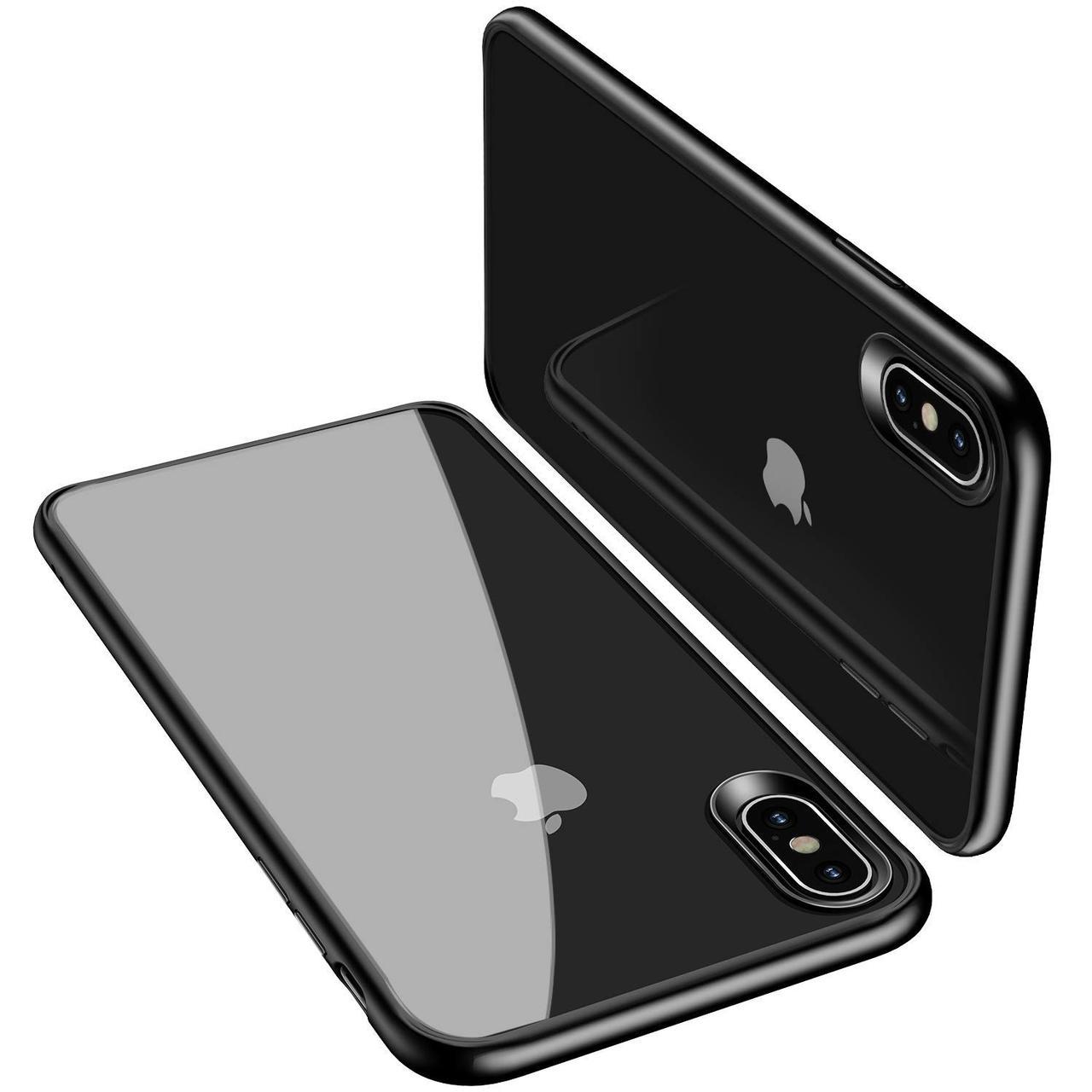 Чехол накладка USAMS для Apple iPhone X / XS Mant series Черный / Прозрачный (IP18MD01)