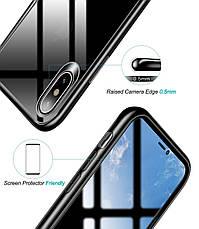 Чехол накладка USAMS для Apple iPhone X / XS Mant series Черный / Прозрачный (IP18MD01), фото 2