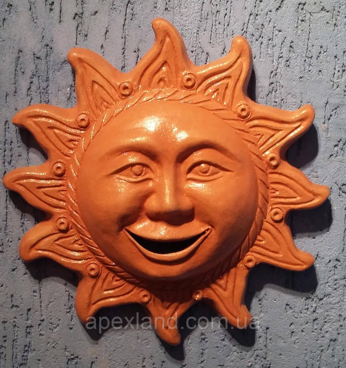 Декор для стен Солнышко , терракота, 25 см