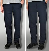Мужские трикотажные спортивные штаны насыщено синие - ткань Пинье
