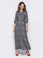 Женское платье в пол с рукавами 3/4 Modniy Oazis черный 90334, фото 1