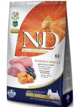 FARMINA N&D Pumpkin Grain Free Lamb & Blueberry Adult Mini Breed 7 кг