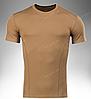 Футболка тактическая потоотводящая ARES (коричневая), фото 3