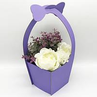 Коробка под цветы сборная