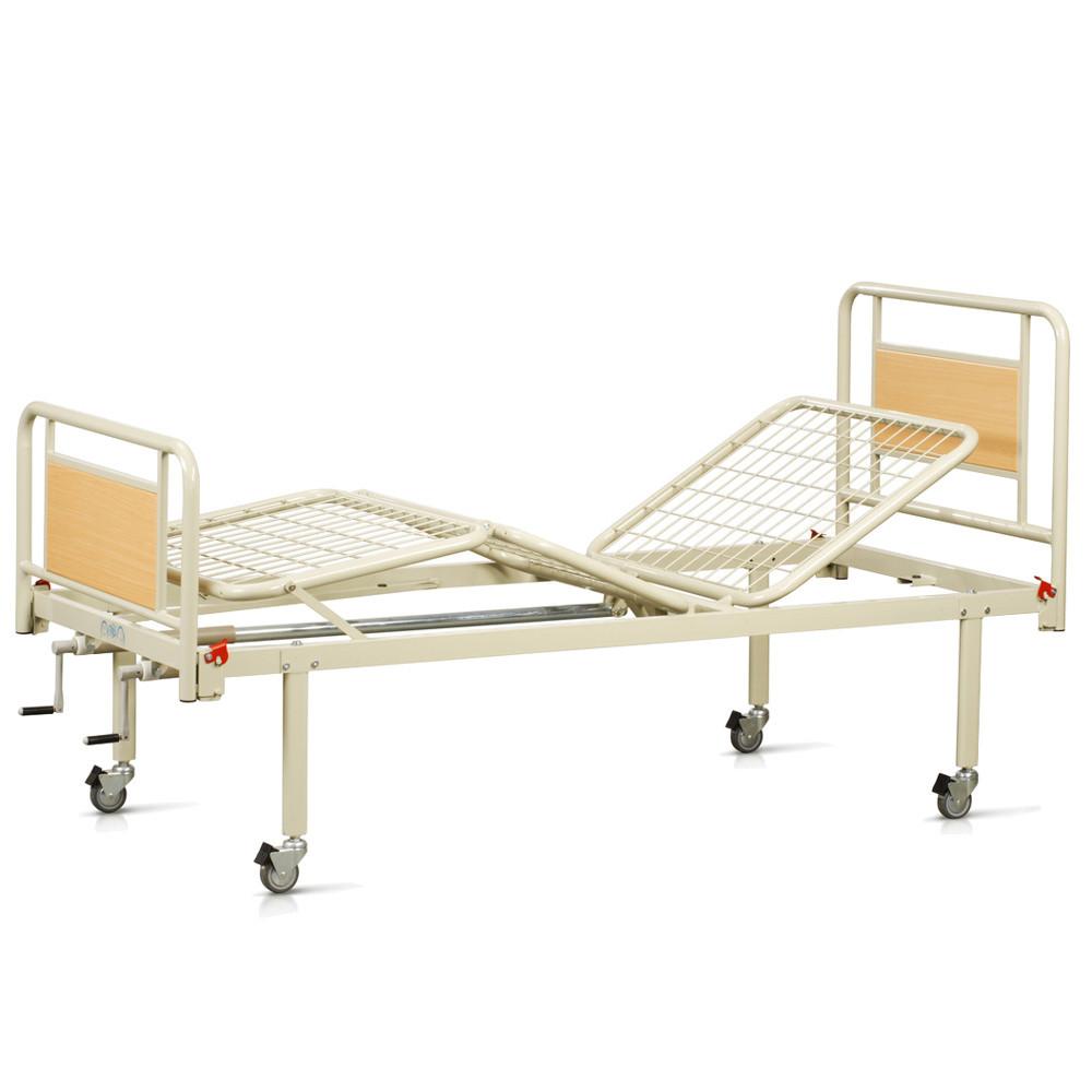 Комплект OSD-94V+OSD-90V: Кровать металлическая механическая на колесах, со съемными спинками (3секции)