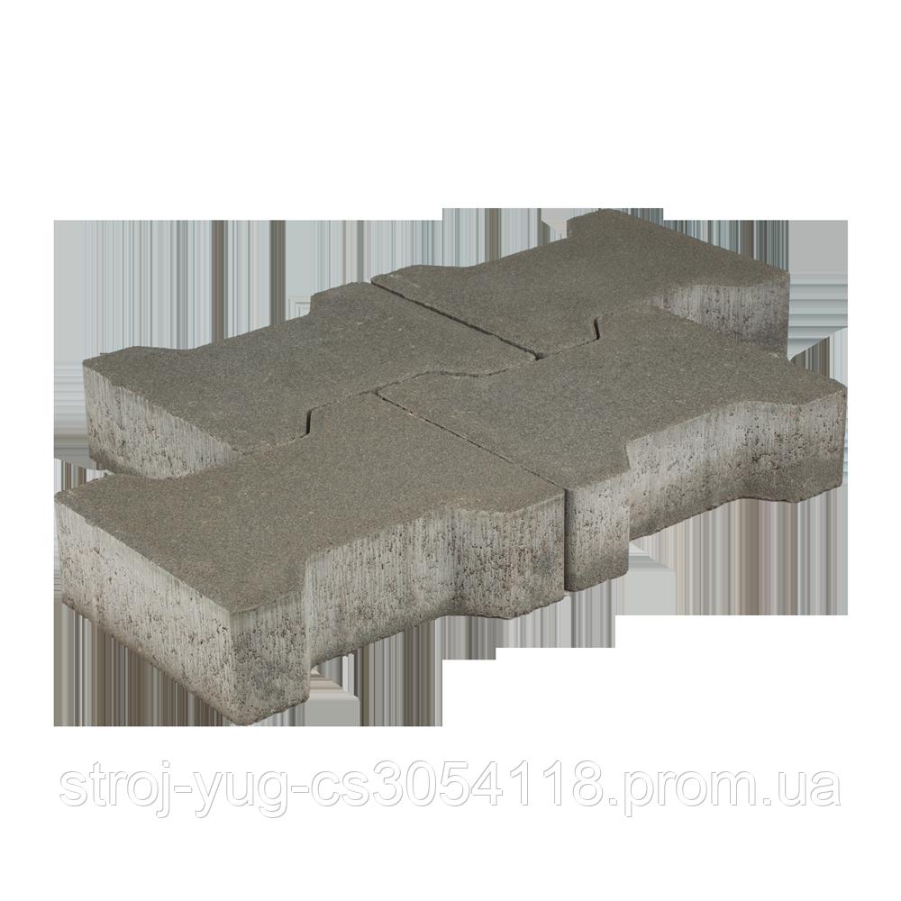 Тротуарная плитка «Катушка», коричневый, 60 мм, заводское качество
