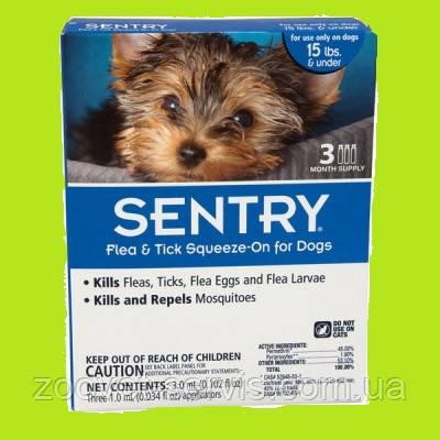 Капли Сентри (SENTRY) от блох, клещей и комаров для собак до 7 кг