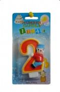 Свеча-цифра Клоун 2