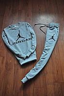 Мужской спортивный костюм, чоловічий костюм Jordan (серый), Реплика