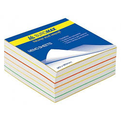 "Блок бумаги для заметок ""Радуга"" 90х90х40мм, не склеенный"