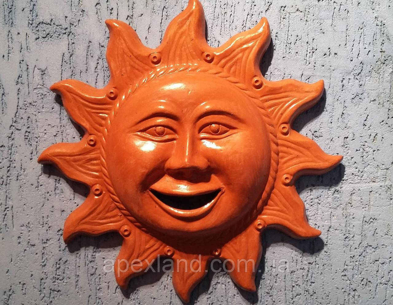 Декор для стен Солнышко , терракота, 32 см