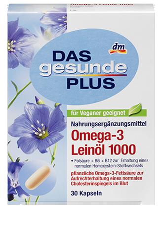 Биологически активная добавка Das gesunde Plus Omega - 3 Leinöl 1000, 30 шт.