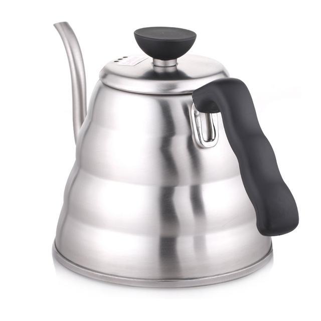 чайник с тонким носиком для приготовления кофе харио