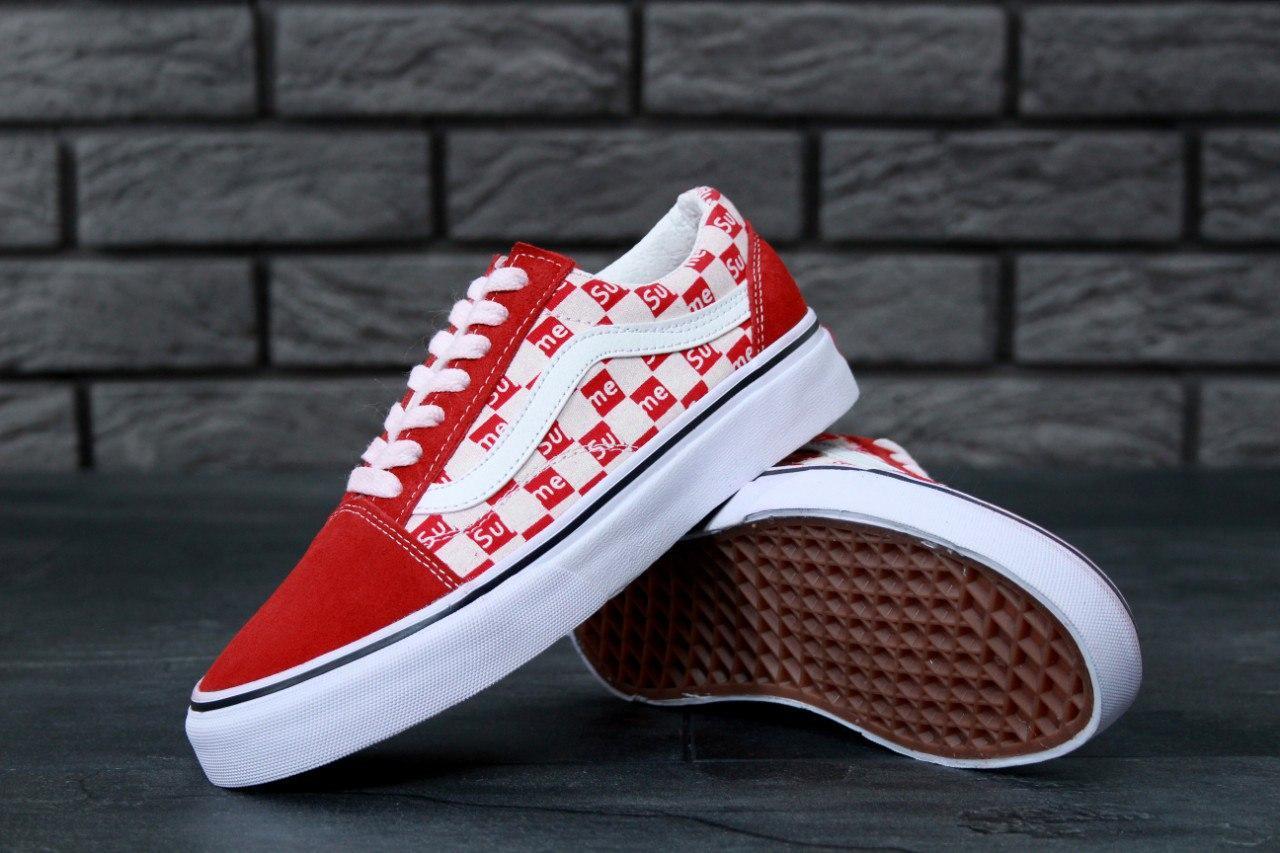 Кеды Supreme x Vans Old Skool💥 красные
