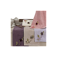 Полотенце бамбуковое Maxstyle - Luna лиловое 85*150