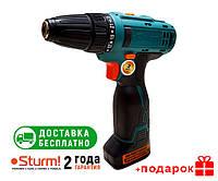 Дрель шуруповерт аккумуляторная Sturm CD3218LBE