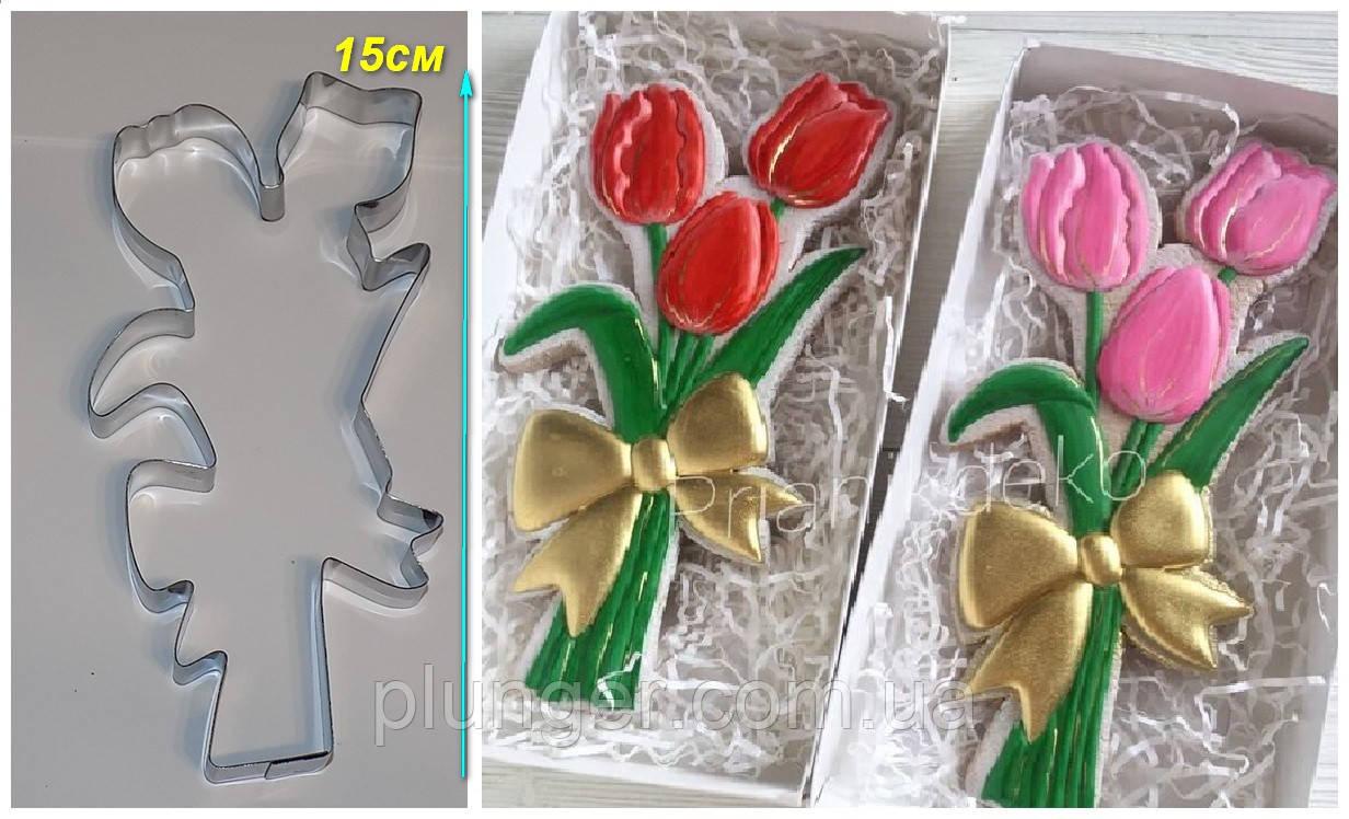Вирубка для пряника Букет тюльпанів