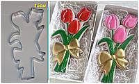 Вырубка для пряника Букет тюльпанов