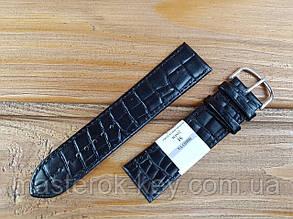 Кожаный ремешок для часов Минута 24мм цвет Черный