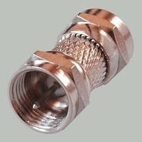 Переходник штекер антеный F - штекер антенный F, корпус металл., латунь
