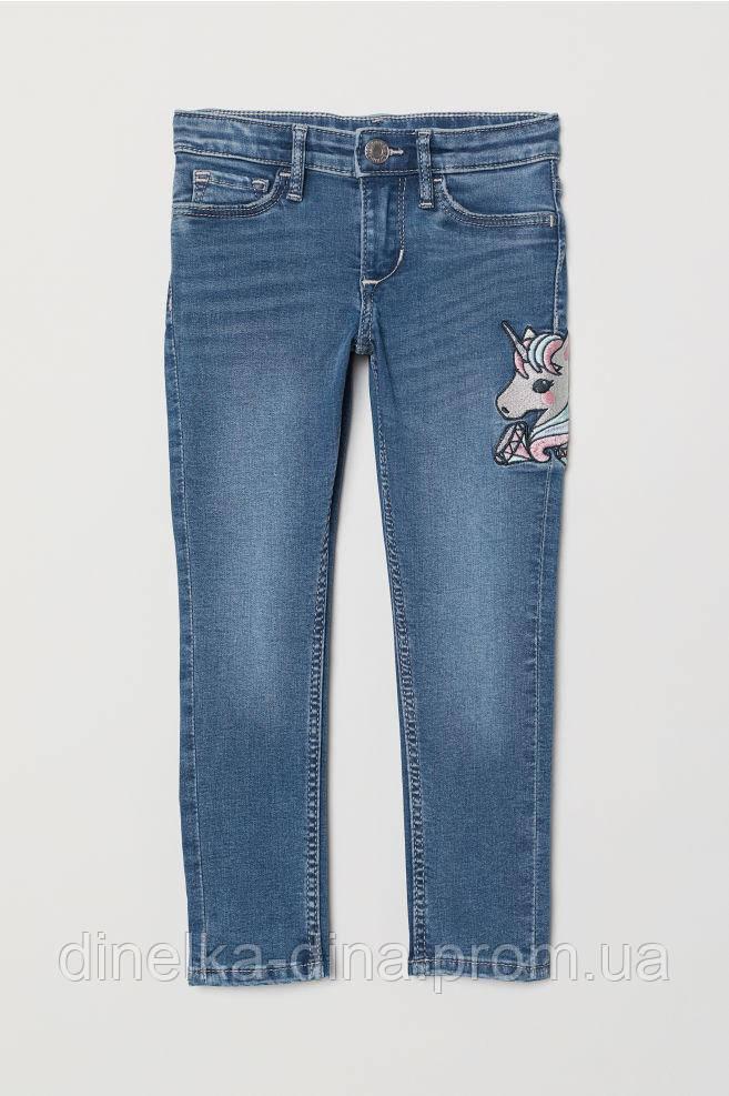 Модные джинсы скини с пони на девочку 4-5, 5-6 лет