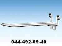 Крючок двойной для ДСП. Крючки для стеллажей с ДСП. Торговое оборудование из проволоки
