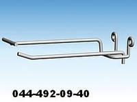 Крючок одинарный с ценником для ДСП. Крючки для панелей ДСП. Торговое оборудование из проволоки