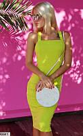 Платье вечернее летнее ( выпускное ) футляр карандаш приталенное по фигуре с открытыми плечами Цвет : Оливковый Размер : 42 44 46 Материал : Дайвинг