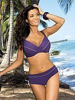 Раздельный женский купальник для большой груди фиолетовый