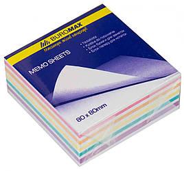 "Блок бумаги для заметок ""Зебра"" 80х80х30мм, склеенный"