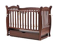 Детская кроватка Верес Соня ЛД15 орех (маятник+ящик)