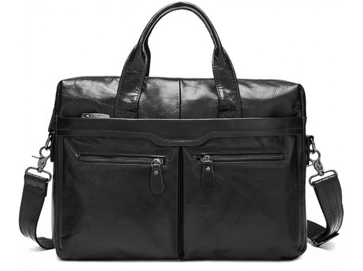 Горизонтальная Мужска сумка через плечо BEXHILL в черном матовом цвете  Bx9005A