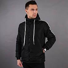 Демисезонная черная мужская куртка на холлофайбере Dassler black
